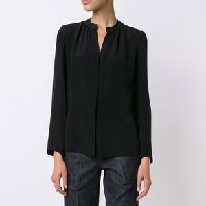 NWT Derek Lam Kara Silk Blouse in Black 6